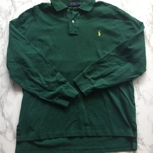 SOLD Large Polo Ralph Lauren Green Long Sleeve